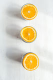 Chia seeds pudding. With oranges stock image