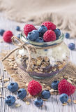 Chia seeds pudding Stock Photography