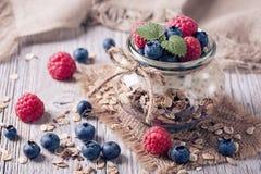 Chia seeds pudding Stock Image