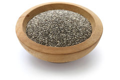 Chia seeds with scoop Royalty Free Stock Images