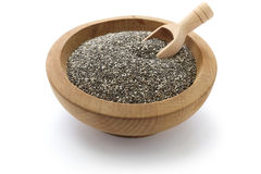 Chia seeds with scoop. On white background Stock Image