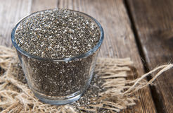 Chia Seeds in a small bowl Royalty Free Stock Photo