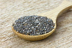 Chia seeds on spoon Royalty Free Stock Photos