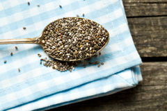Chia seeds in spoon Stock Photography