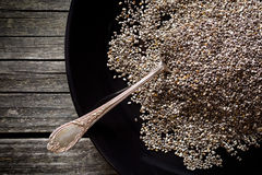 Chia seeds in spoon Royalty Free Stock Photography