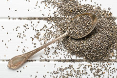 Chia seeds in spoon Stock Images
