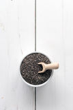 Chia seeds superfoods Royalty Free Stock Image