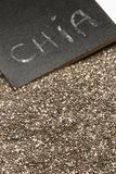 Chia seeds on a table royalty free stock photos