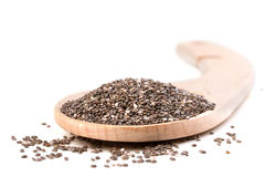Chia seeds. On a white background royalty free stock photography