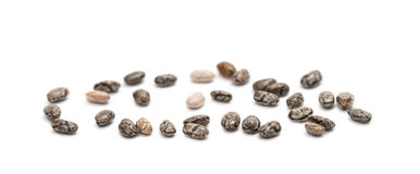 Chia seeds on white background Royalty Free Stock Photos