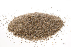 Chia seeds on white Stock Photography