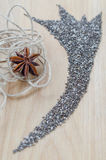 Chia seeds on wooden cutting board Stock Image
