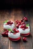 Chia seeds yogurt pudding Royalty Free Stock Image