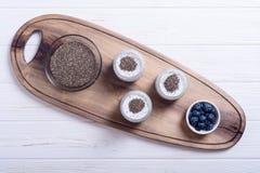 Chia seeds yogyrt pudding Stock Photography
