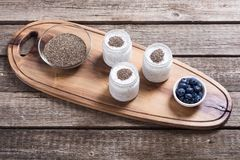 Chia seeds yogyrt pudding Stock Images