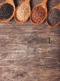 Chia, sesame, flax Stock Images