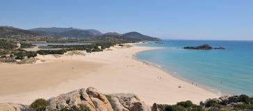 Chia - Su Giudeu. Spiaggia Su Giudeo, Chia - Domus De Maria Cagliari. Sardegna stock image