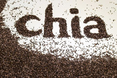 Free Chia Word Made From Chia Seeds Salvia Hispanica On White Background. Royalty Free Stock Images - 85594639