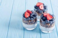 Chia yogurt with granola royalty free stock photo