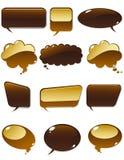 Chiacchierata del cioccolato Immagine Stock