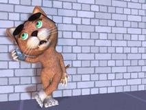 Chiacchierata del gattino Immagini Stock