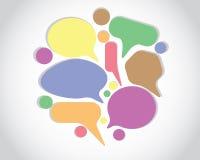 Chiacchierata di conversazione di Colorfull illustrazione di stock