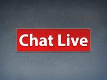 Chiacchierata Live Red Banner Abstract Background illustrazione vettoriale