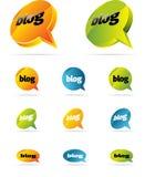 Chiacchierata o blog Immagine Stock