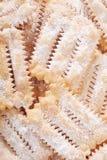 Chiacchiere, fondo italiano della pasticceria di carnevale Fotografia Stock