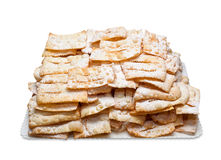 Chiacchiere or frappe italian fried pastries Royalty Free Stock Images