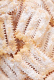 Chiacchiere, italian Carnival pastry background Stock Photography