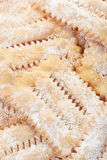 Chiacchiere, italian Carnival pastry background Stock Images