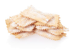 Chiacchiere, italian Carnival pastry heap Royalty Free Stock Images