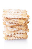 Chiacchiere, italian Carnival pastry stack Stock Photos