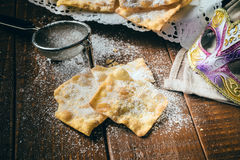 Chiacchiere. Traditional italian carnival pastry Stock Photos