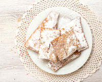 Chiacchiere - Traditional Italian carnival sweets. Chiacchiere  -  Traditional Italian carnival sweets Royalty Free Stock Photography