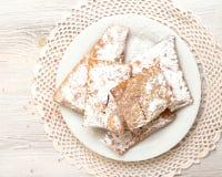 Chiacchiere - Tradycyjni Włoscy karnawałowi cukierki fotografia royalty free