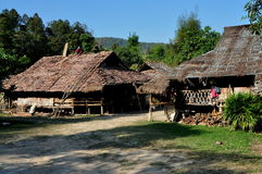 Chiag Mai, Tajlandia: Drewniani Tajlandzcy mieszkania Fotografia Royalty Free