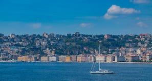 Chiaia Promenade and Sailing Boat III stock photos