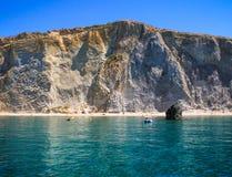 Chiaiadi Luna Bay, Ponza-Eiland royalty-vrije stock foto