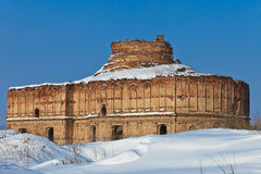 Chiajna Church in winter Royalty Free Stock Image