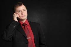 Chiamando dal telefono Fotografie Stock