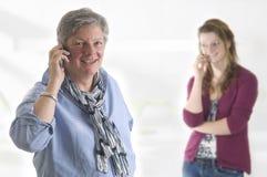 Chiamando dal telefono immagini stock libere da diritti