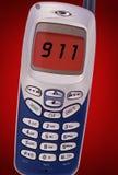 chiamata 911 sul telefono delle cellule Fotografia Stock Libera da Diritti