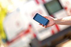 Chiamata d'emergenza a 911 Immagini Stock
