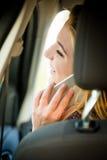 Chiamata del telefono in automobile Fotografia Stock