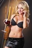 Chiamata del vino Fotografia Stock