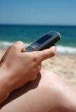 Chiamata della spiaggia Fotografia Stock
