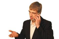 Chiamata di affari - discutendo fotografia stock