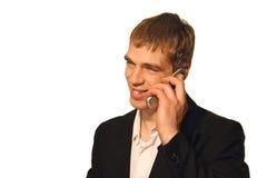 Chiamata di affari - sorriso Fotografie Stock Libere da Diritti